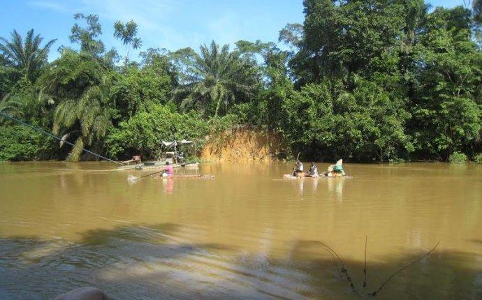 Россыпная золотодобыча в Либерии (Западная Африка